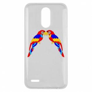 Lg K10 2017 Case Two bright parrots