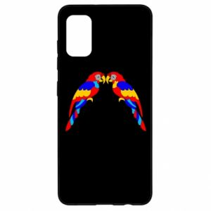 Samsung A41 Case Two bright parrots
