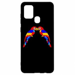 Samsung A21s Case Two bright parrots