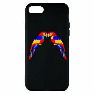iPhone SE 2020 Case Two bright parrots