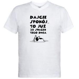 Męska koszulka V-neck DWUDZIESTY SPACER