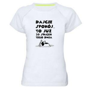 Damska koszulka sportowa DWUDZIESTY SPACER