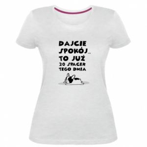 Damska premium koszulka DWUDZIESTY SPACER