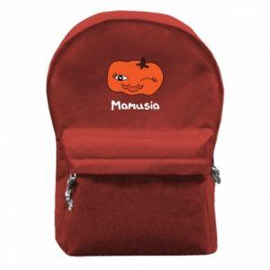 Plecak z przednią kieszenią Dynia. Mamusia - PrintSalon