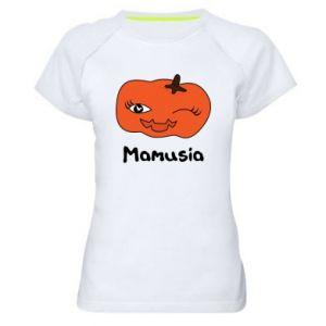 Damska koszulka sportowa Dynia. Mamusia - PrintSalon