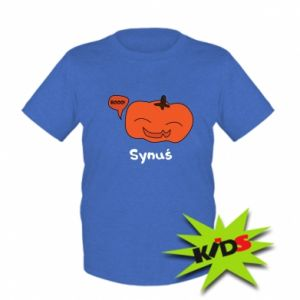 Kids T-shirt Pumpkin. Son