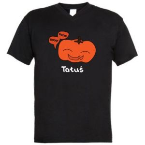 Men's V-neck t-shirt Pumpkin. Daddy