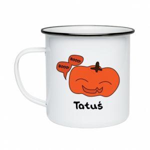 Enameled mug Pumpkin. Daddy