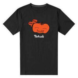 Męska premium koszulka Dynia. Tatuś - PrintSalon