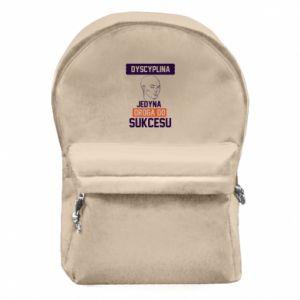 Plecak z przednią kieszenią Dyscyplina