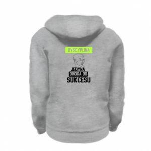 Kid's zipped hoodie % print% Discipline