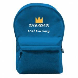 Plecak z przednią kieszenią Dziadek król kanapy