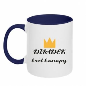 Two-toned mug Grandfather king of the couch