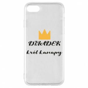 Etui na iPhone 7 Dziadek król kanapy