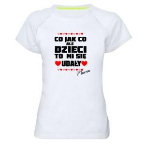Damska koszulka sportowa Dzieci mi sie udaly