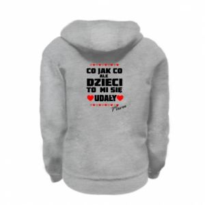 Kid's zipped hoodie % print% The children were a success