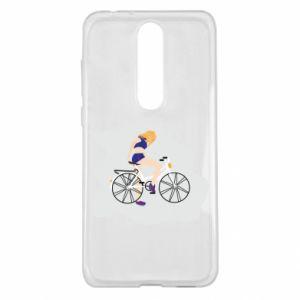 Etui na Nokia 5.1 Plus Dziewczyna na rowerze