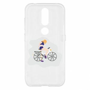 Etui na Nokia 4.2 Dziewczyna na rowerze