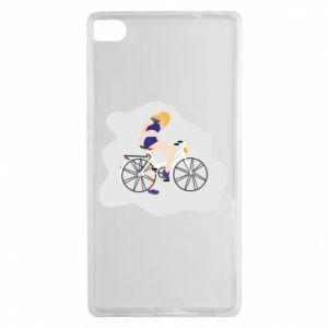 Etui na Huawei P8 Dziewczyna na rowerze