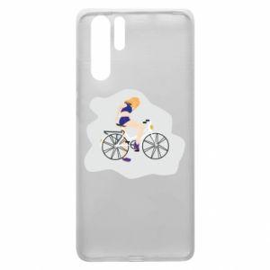 Etui na Huawei P30 Pro Dziewczyna na rowerze
