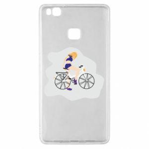 Etui na Huawei P9 Lite Dziewczyna na rowerze