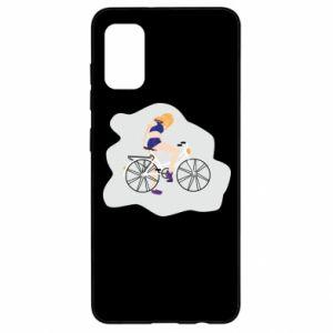 Etui na Samsung A41 Dziewczyna na rowerze
