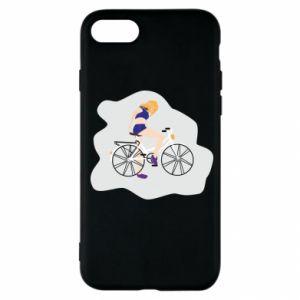 Etui na iPhone SE 2020 Dziewczyna na rowerze