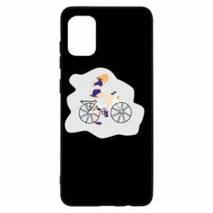 Etui na Samsung A31 Dziewczyna na rowerze