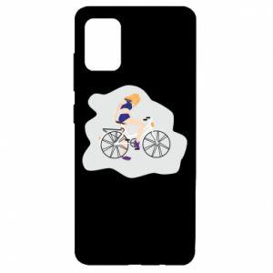 Etui na Samsung A51 Dziewczyna na rowerze