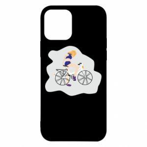 Etui na iPhone 12/12 Pro Dziewczyna na rowerze