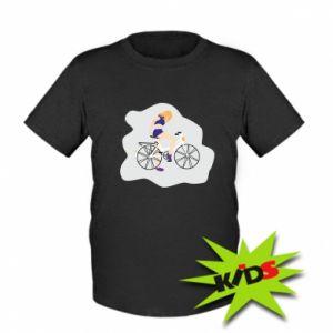 Dziecięcy T-shirt Dziewczyna na rowerze