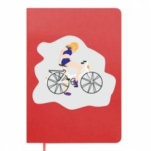 Notes Dziewczyna na rowerze