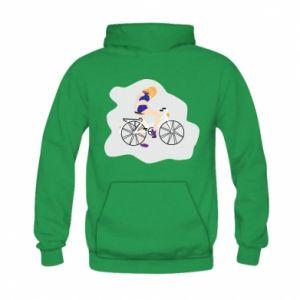 Bluza z kapturem dziecięca Dziewczyna na rowerze