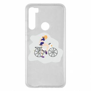 Etui na Xiaomi Redmi Note 8 Dziewczyna na rowerze