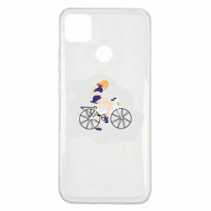 Xiaomi Redmi 9c Case Girl on a bicycle