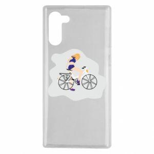 Etui na Samsung Note 10 Dziewczyna na rowerze