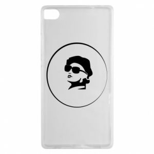Huawei P8 Case Girl in glasses