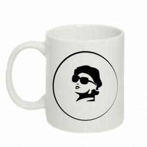 Mug 330ml Girl in glasses