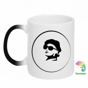 Magic mugs Girl in glasses