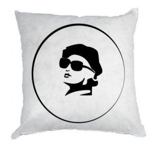 Pillow Girl in glasses