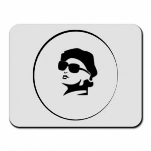 Mouse pad Girl in glasses