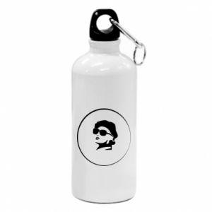 Water bottle Girl in glasses