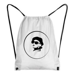 Backpack-bag Girl in glasses