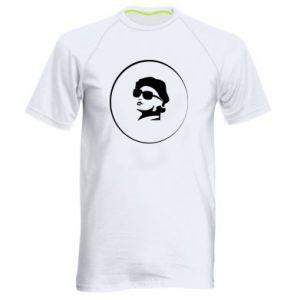 Men's sports t-shirt Girl in glasses