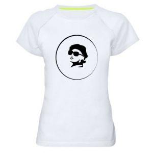 Koszulka sportowa damska Dziewczyna w okularach