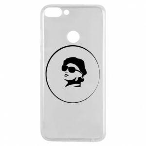 Phone case for Huawei P Smart Girl in glasses
