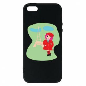 Phone case for iPhone 5/5S/SE Girl in Paris - PrintSalon