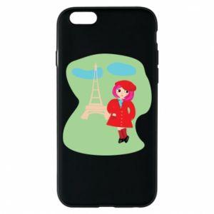 Phone case for iPhone 6/6S Girl in Paris - PrintSalon