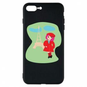 Phone case for iPhone 8 Plus Girl in Paris - PrintSalon