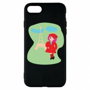 Etui na iPhone SE 2020 Dziewczyna w Paryżu